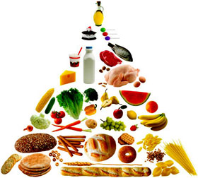 food pyramid - nutritious foods